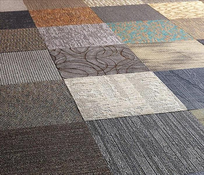 Different types, color and textures of carpets